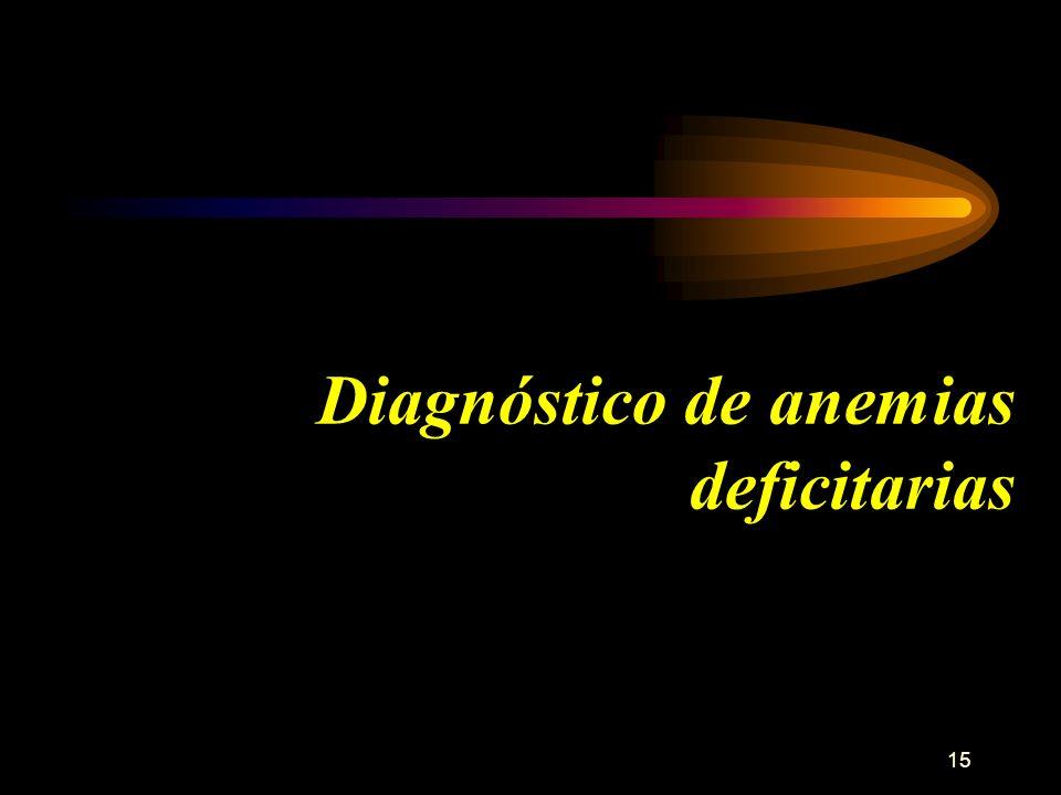 Diagnóstico de anemias deficitarias