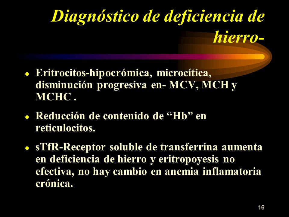 Diagnóstico de deficiencia de hierro-
