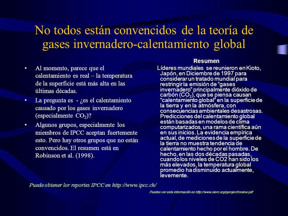 No todos están convencidos de la teoría de gases invernadero-calentamiento global