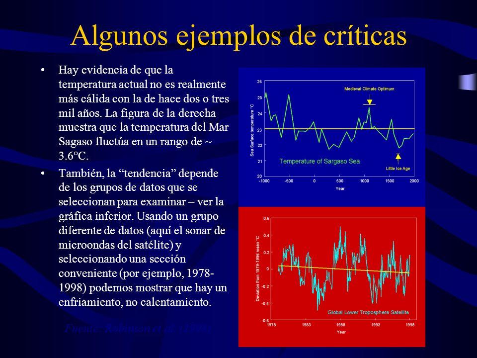 Algunos ejemplos de críticas