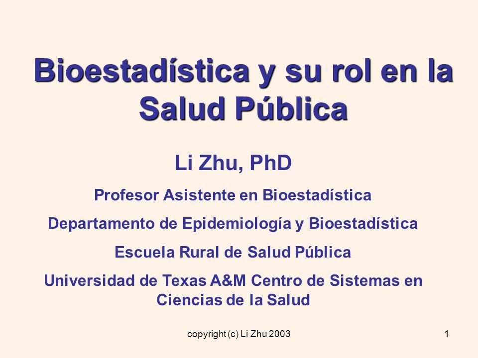 Bioestadística y su rol en la Salud Pública