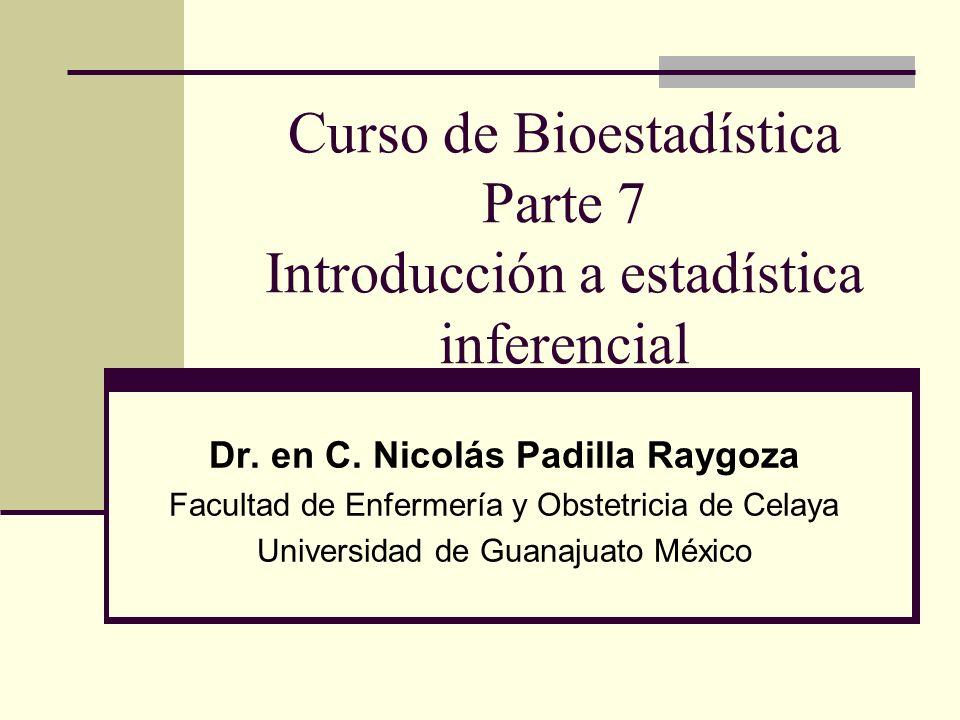 Curso de Bioestadística Parte 7 Introducción a estadística inferencial