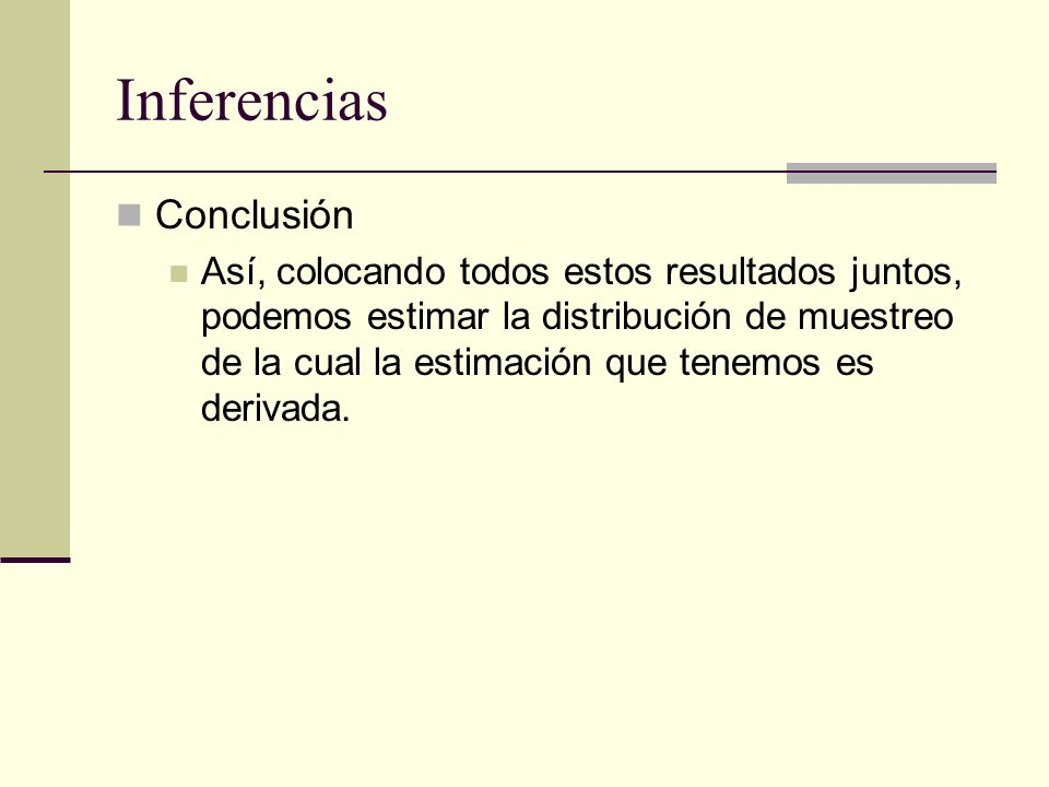 Inferencias Conclusión