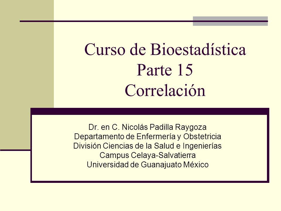Curso de Bioestadística Parte 15 Correlación