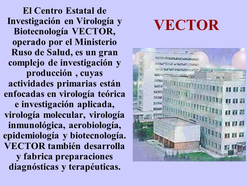El Centro Estatal de Investigación en Virología y Biotecnología VECTOR, operado por el Ministerio Ruso de Salud, es un gran complejo de investigación y producción , cuyas actividades primarias están enfocadas en virología teórica e investigación aplicada, virología molecular, virología inmunológica, aerobiología, epidemiología y biotecnología. VECTOR también desarrolla y fabrica preparaciones diagnósticas y terapéuticas.
