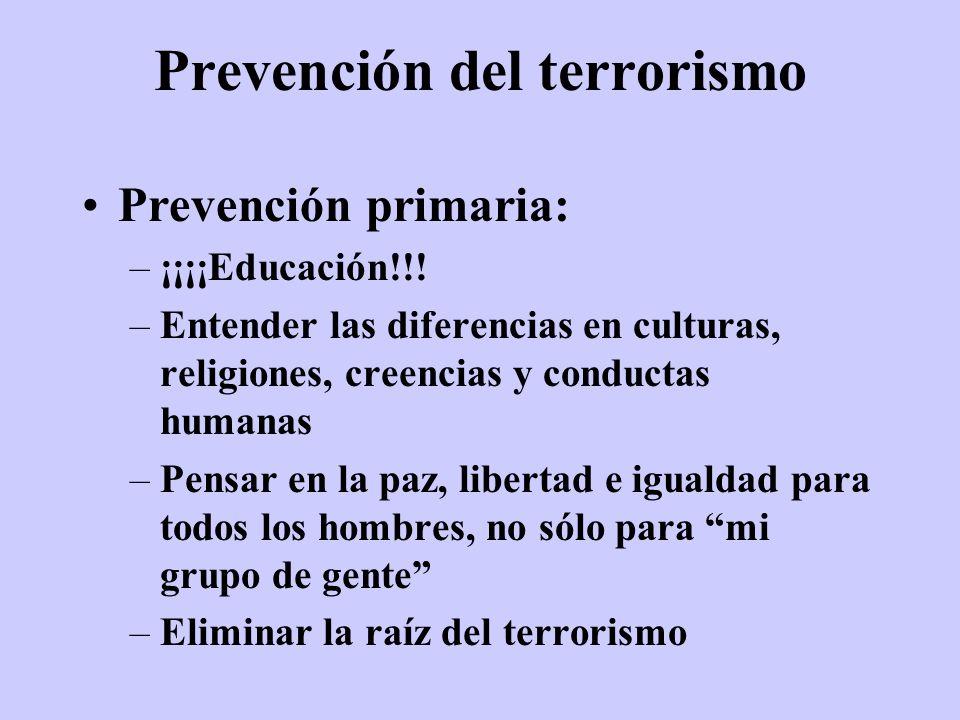 Prevención del terrorismo