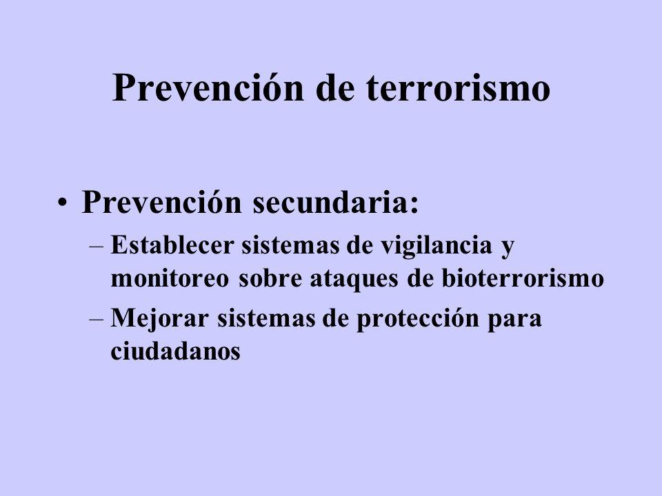 Prevención de terrorismo