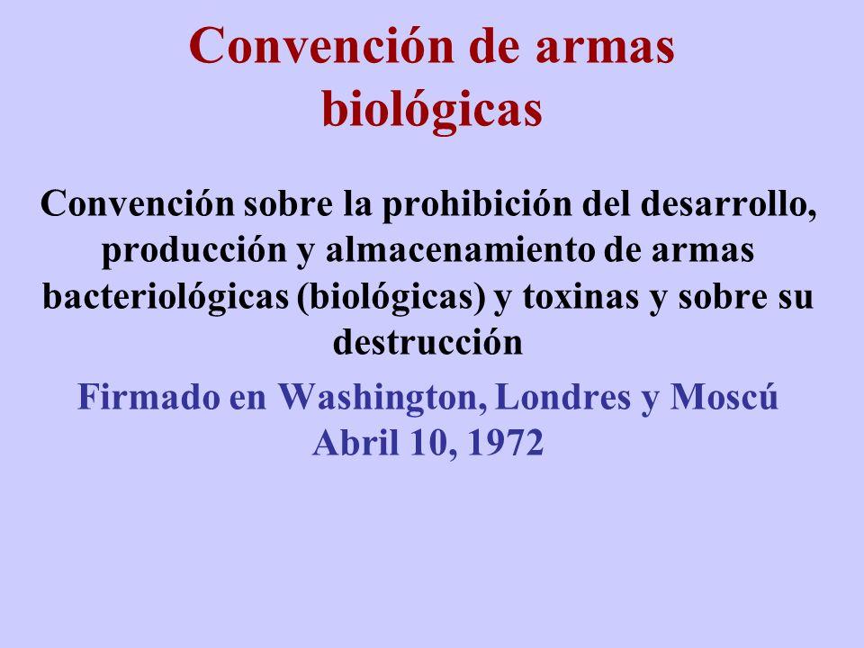 Convención de armas biológicas