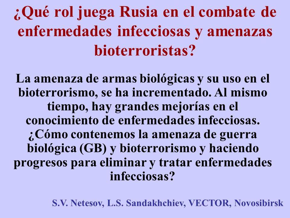 ¿Qué rol juega Rusia en el combate de enfermedades infecciosas y amenazas bioterroristas