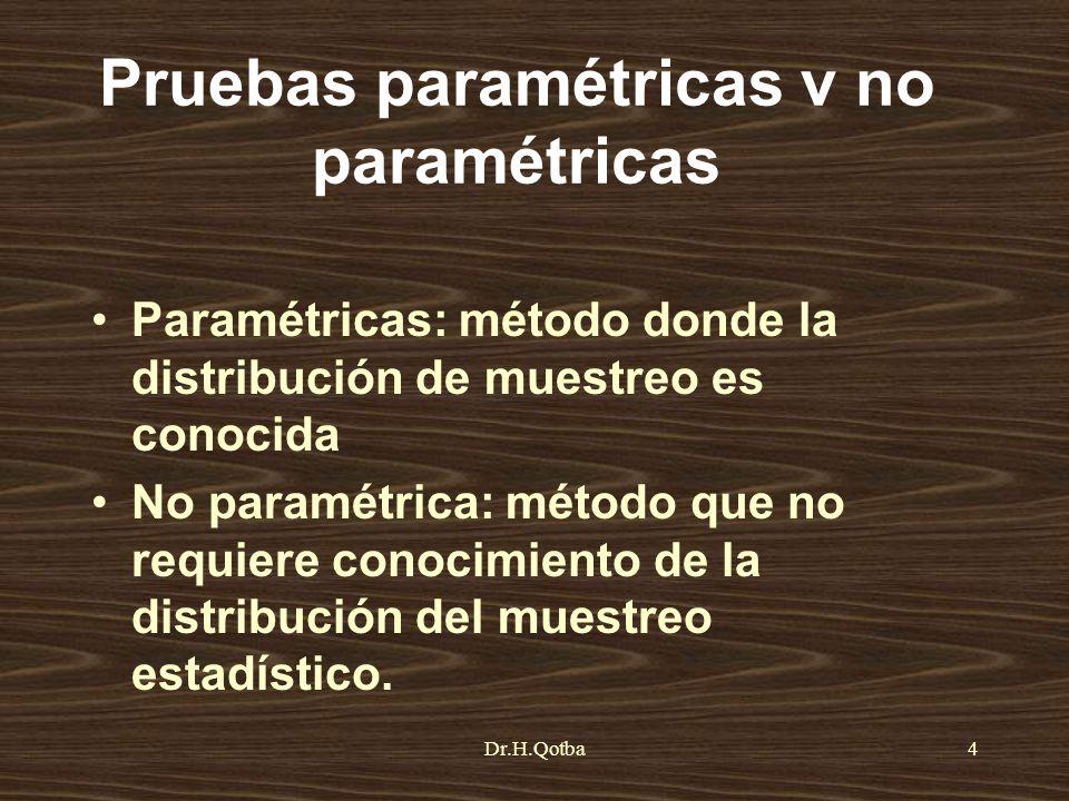 Pruebas paramétricas v no paramétricas