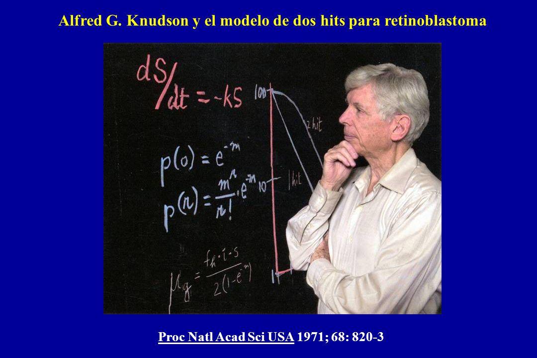 Alfred G. Knudson y el modelo de dos hits para retinoblastoma