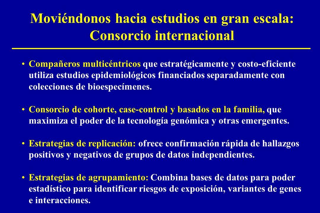 Moviéndonos hacia estudios en gran escala: Consorcio internacional