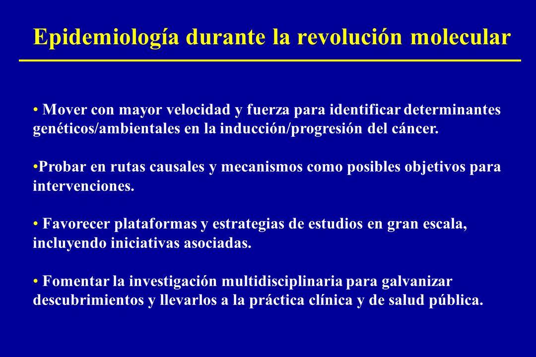 Epidemiología durante la revolución molecular