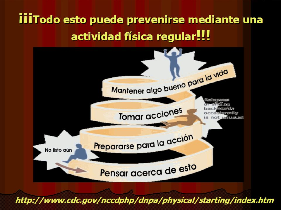 ¡¡¡Todo esto puede prevenirse mediante una actividad física regular!!!