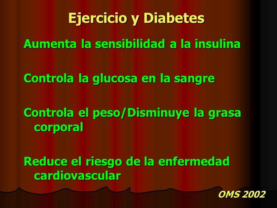 Ejercicio y Diabetes Aumenta la sensibilidad a la insulina