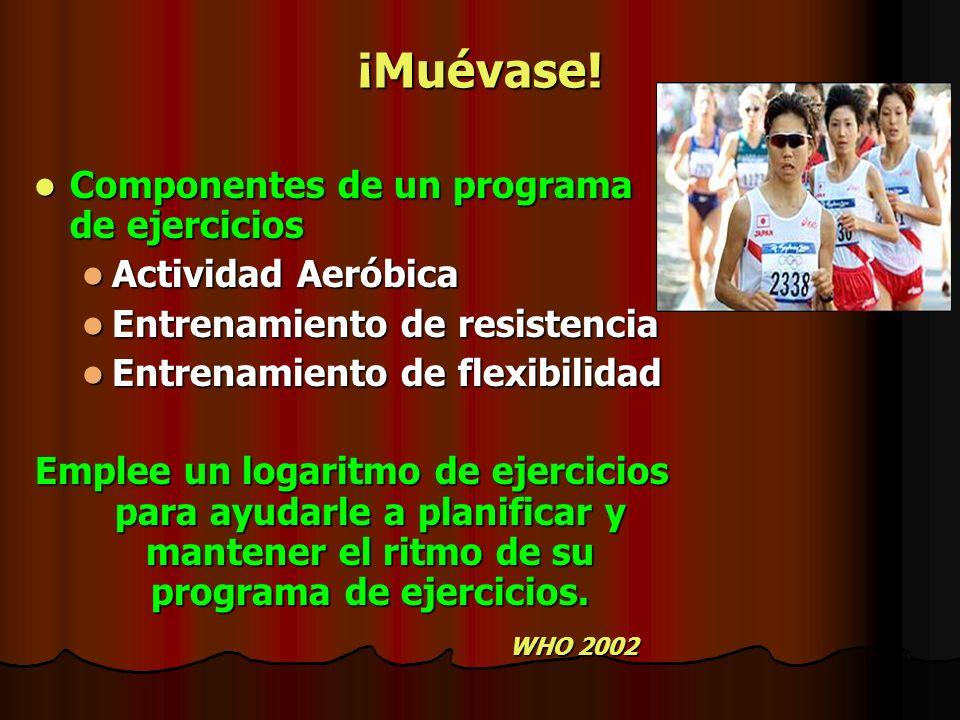 ¡Muévase! Componentes de un programa de ejercicios Actividad Aeróbica