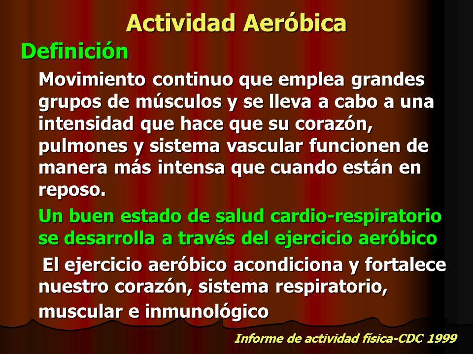 Actividad Aeróbica Definición