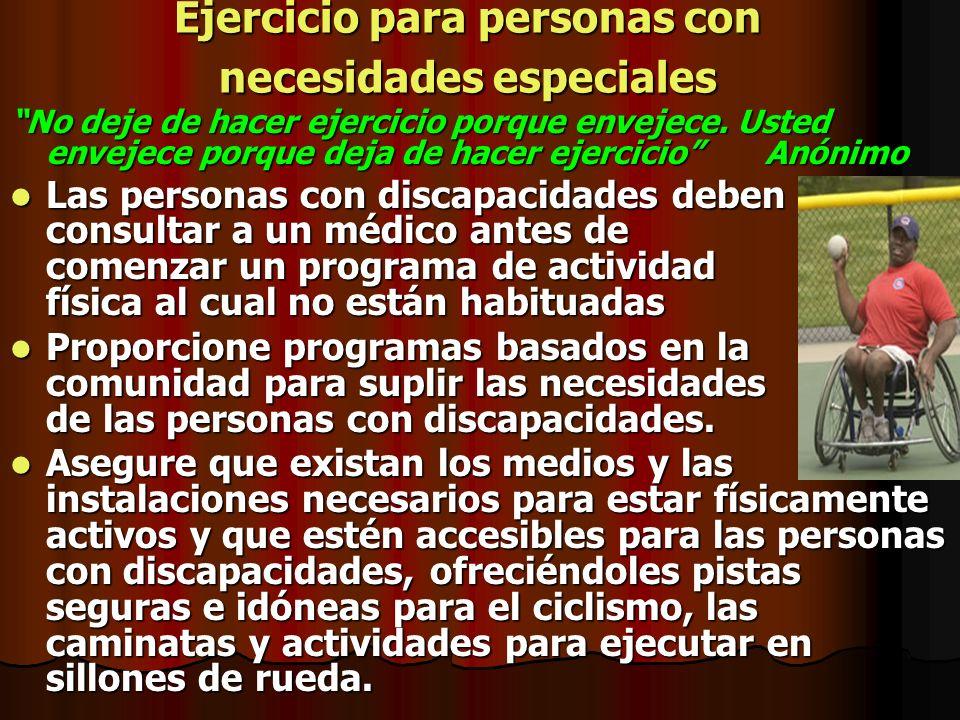 Ejercicio para personas con necesidades especiales