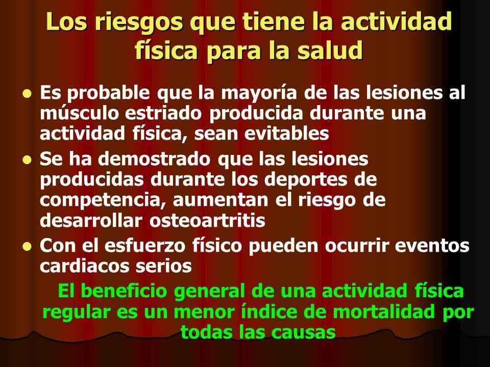 Los riesgos que tiene la actividad física para la salud