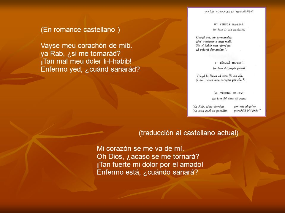 (En romance castellano )