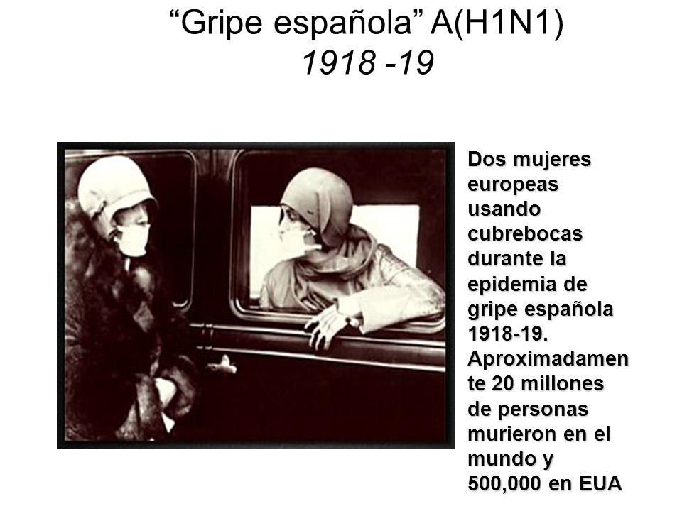 Gripe española A(H1N1) 1918 -19