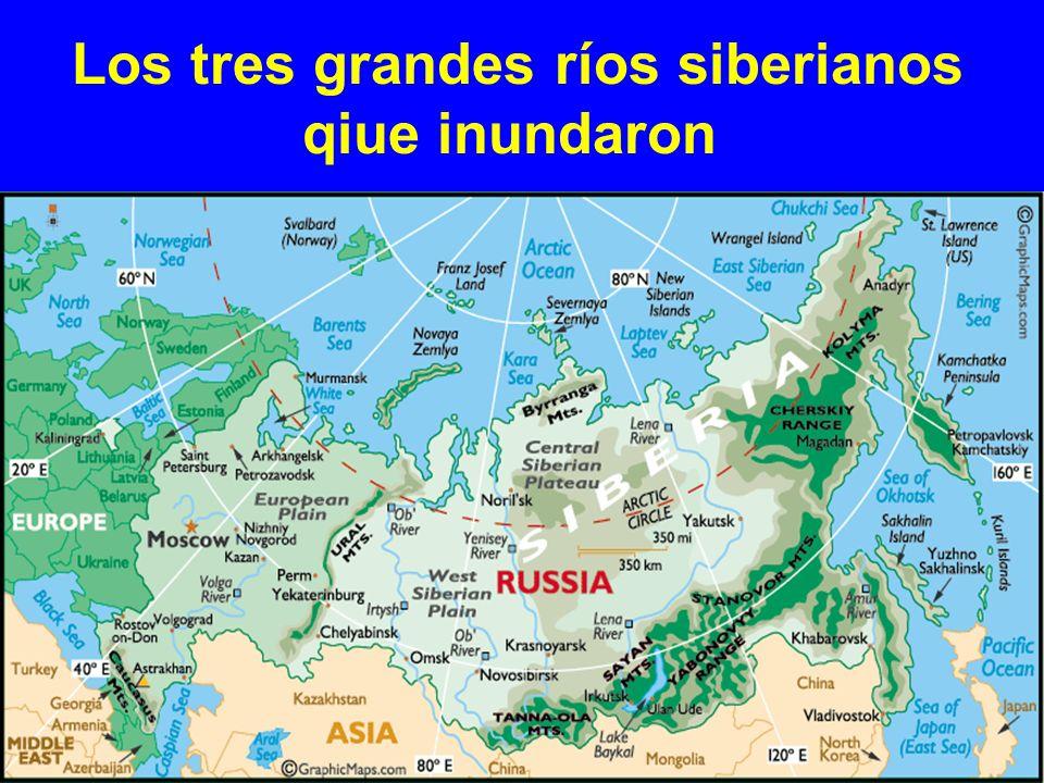 Los tres grandes ríos siberianos qiue inundaron