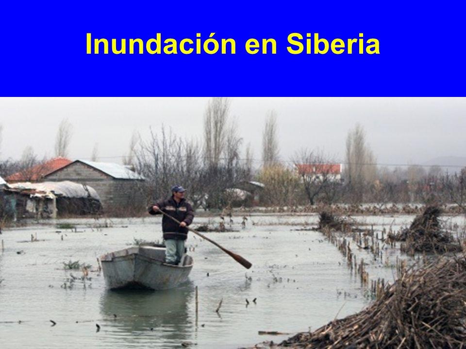 Inundación en Siberia