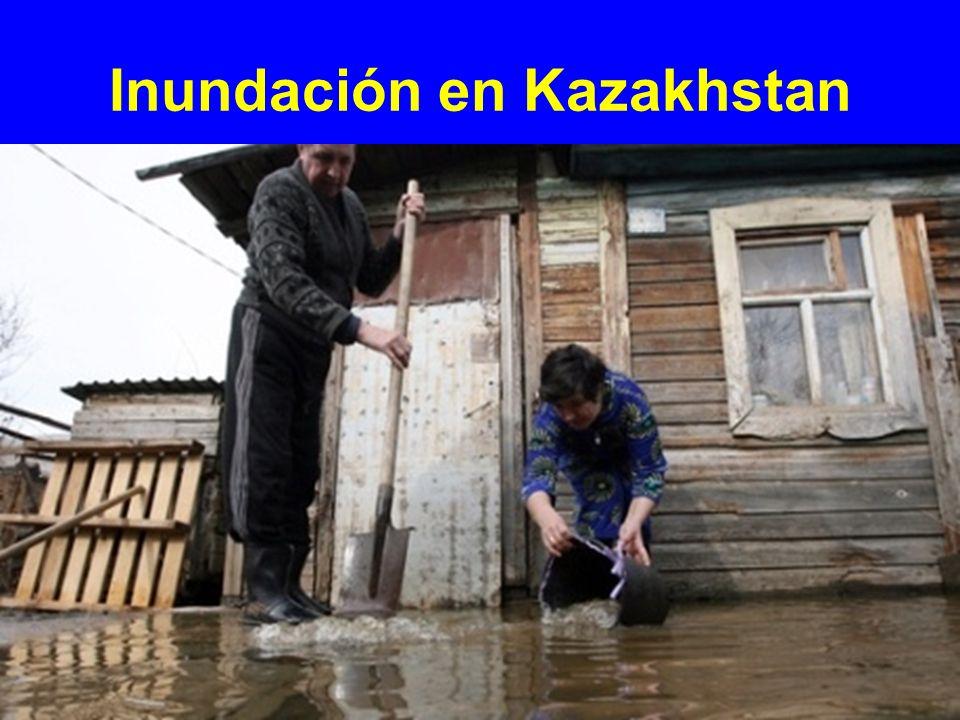 Inundación en Kazakhstan