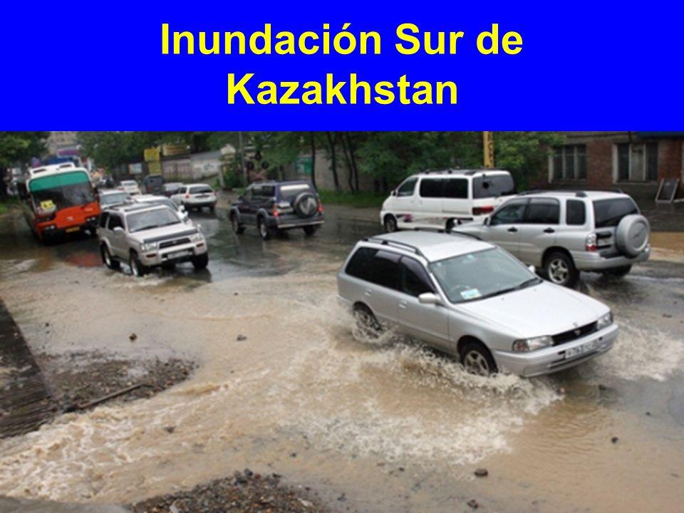Inundación Sur de Kazakhstan
