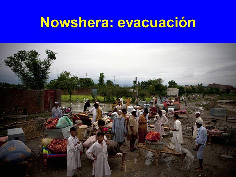 Nowshera: evacuación