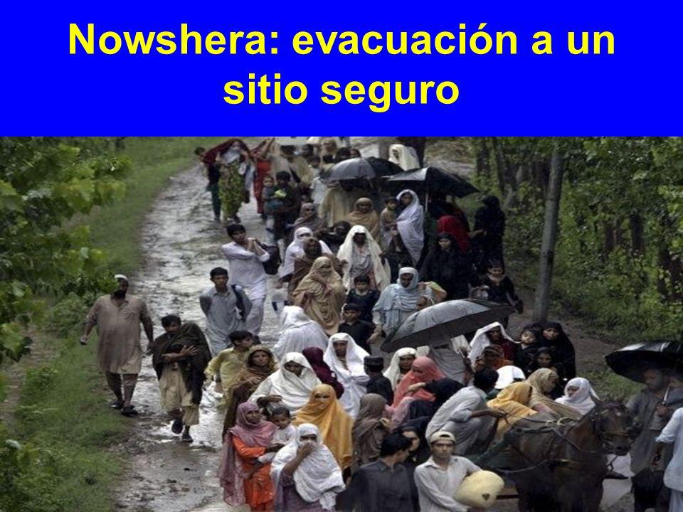 Nowshera: evacuación a un sitio seguro