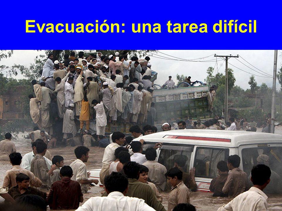 Evacuación: una tarea difícil