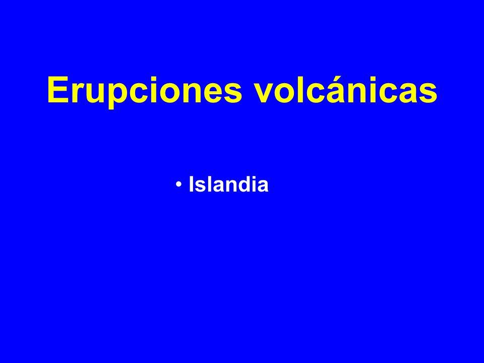 Erupciones volcánicas
