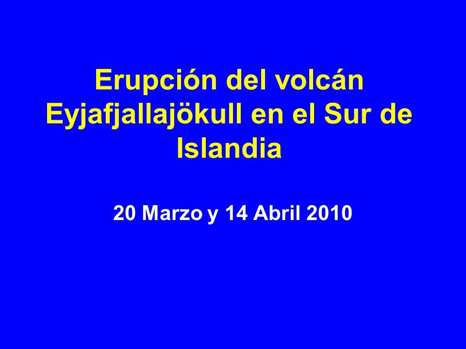 Erupción del volcán Eyjafjallajökull en el Sur de Islandia