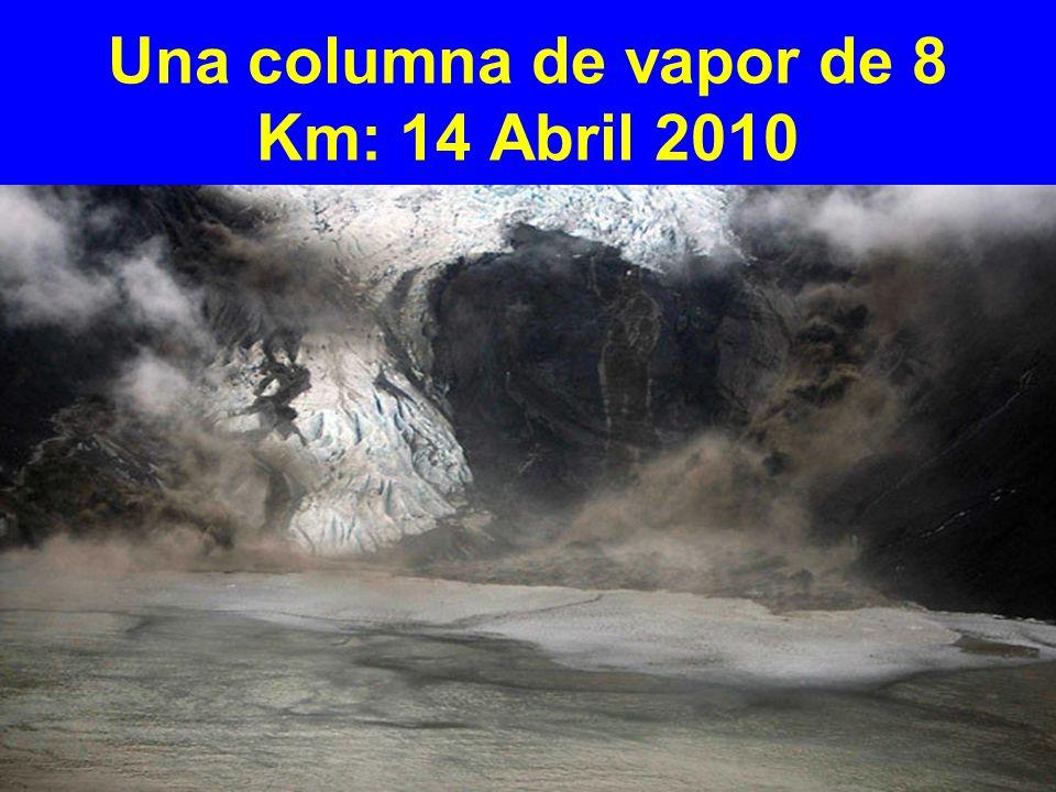 Una columna de vapor de 8 Km: 14 Abril 2010