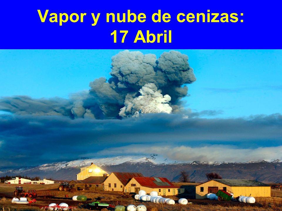 Vapor y nube de cenizas: 17 Abril