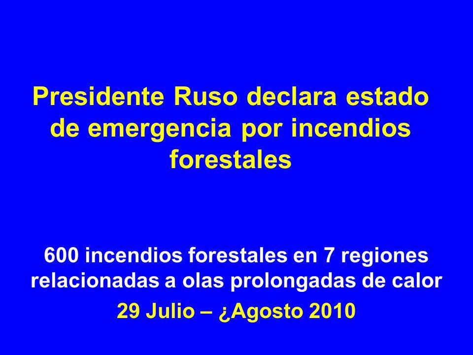 Presidente Ruso declara estado de emergencia por incendios forestales