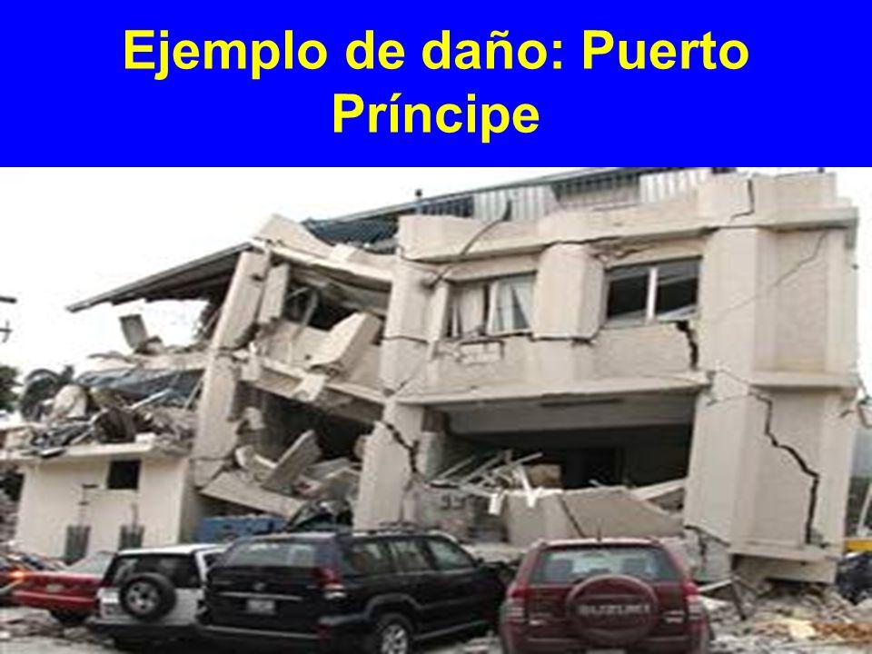 Ejemplo de daño: Puerto Príncipe