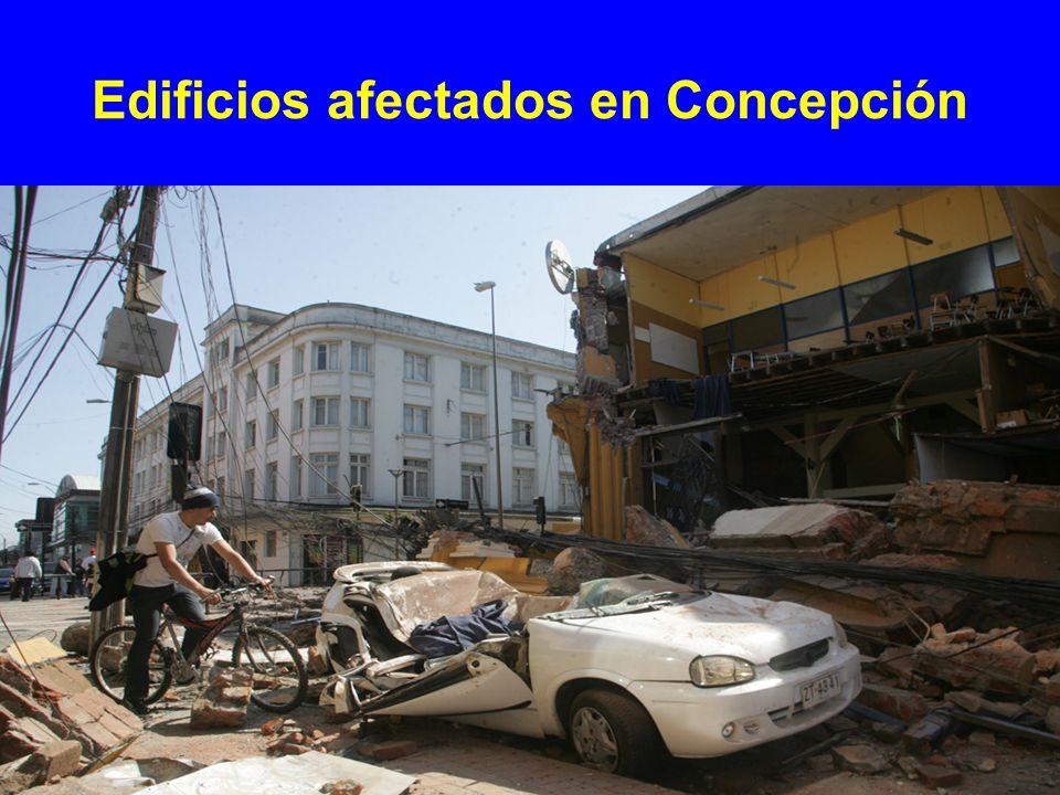 Edificios afectados en Concepción