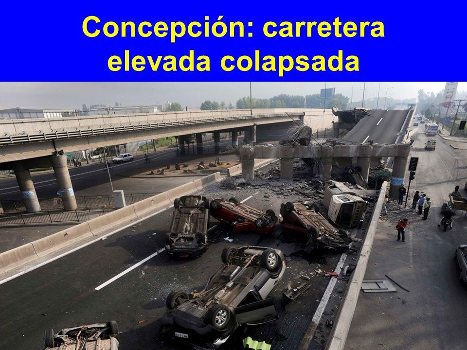 Concepción: carretera elevada colapsada