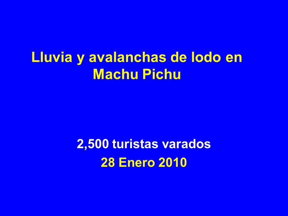 Lluvia y avalanchas de lodo en Machu Pichu