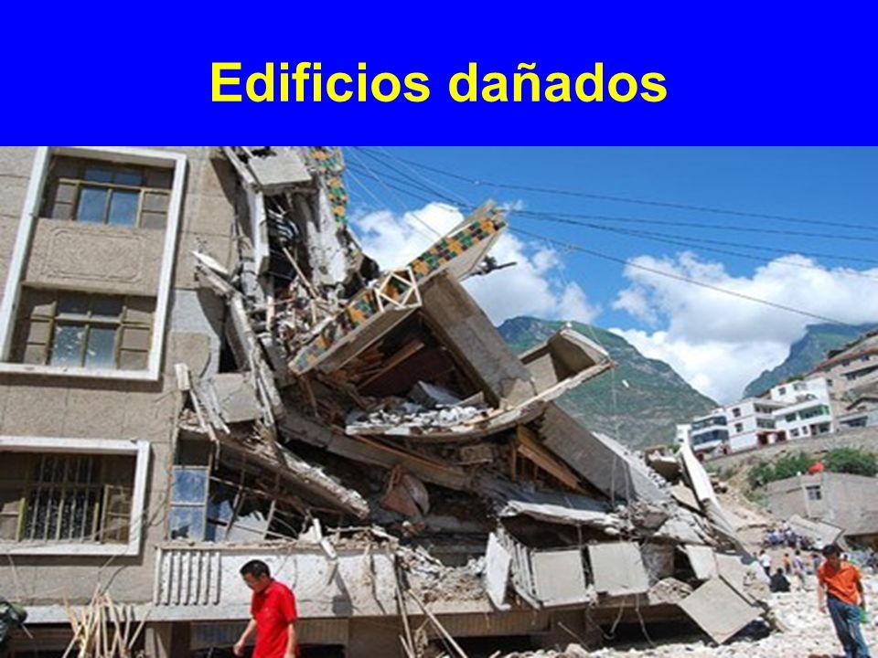 Edificios dañados
