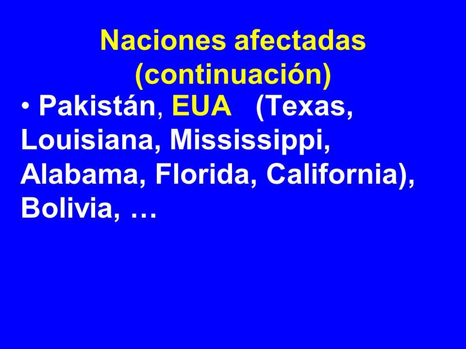 Naciones afectadas (continuación)
