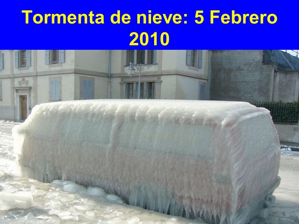 Tormenta de nieve: 5 Febrero 2010