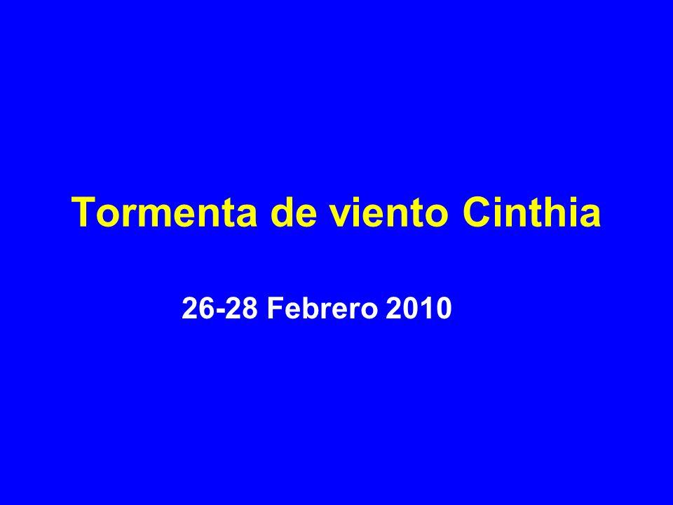 Tormenta de viento Cinthia