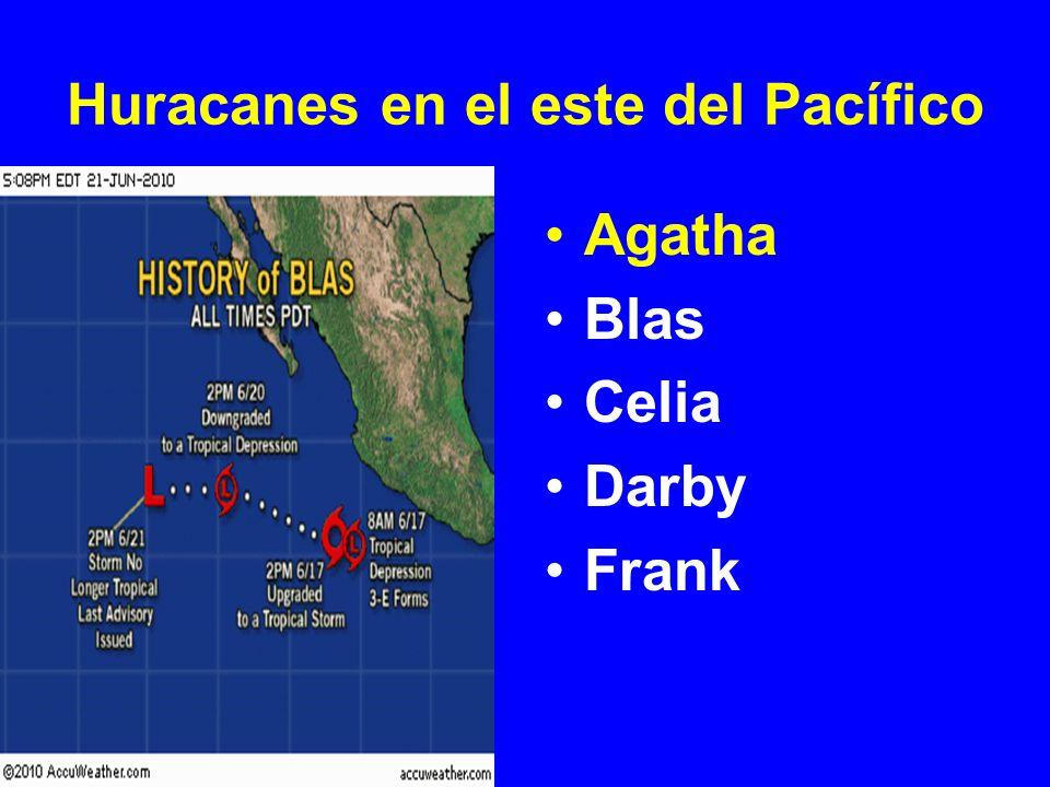 Huracanes en el este del Pacífico