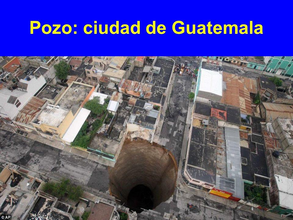 Pozo: ciudad de Guatemala