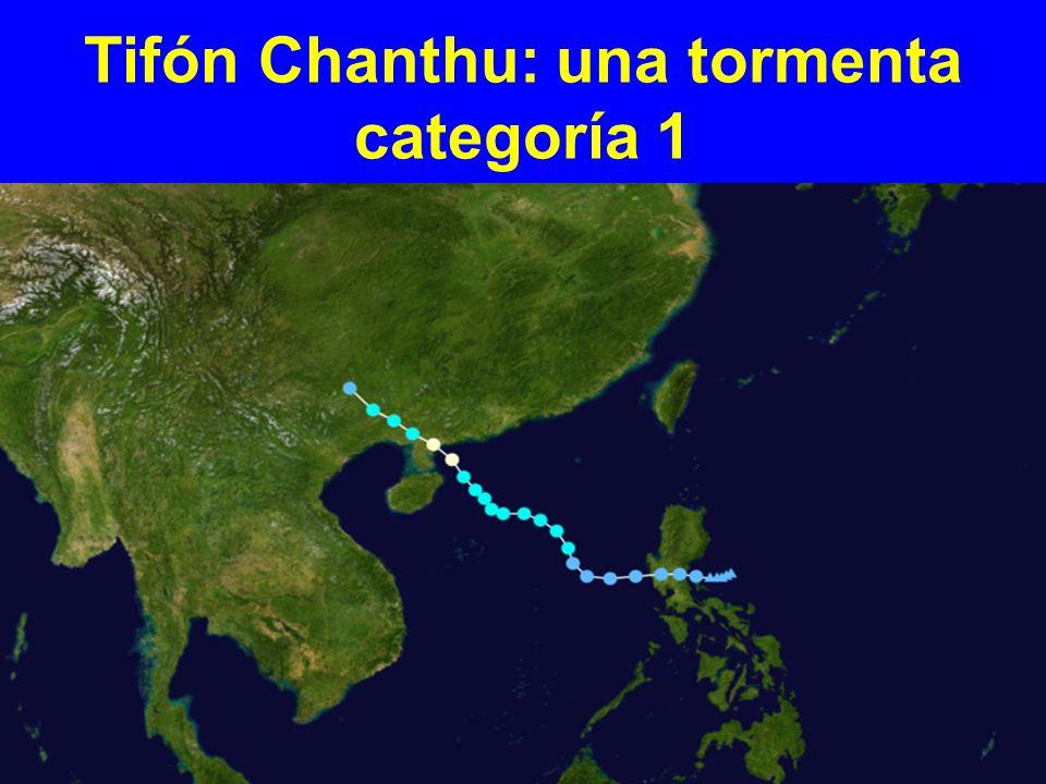 Tifón Chanthu: una tormenta categoría 1
