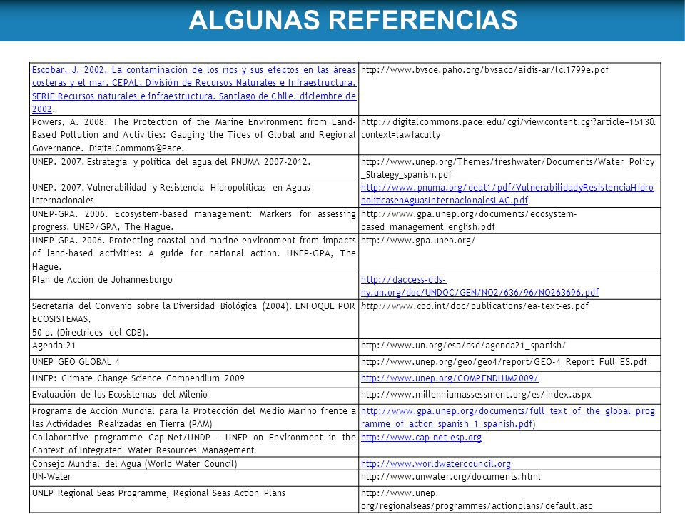 ALGUNAS REFERENCIAS
