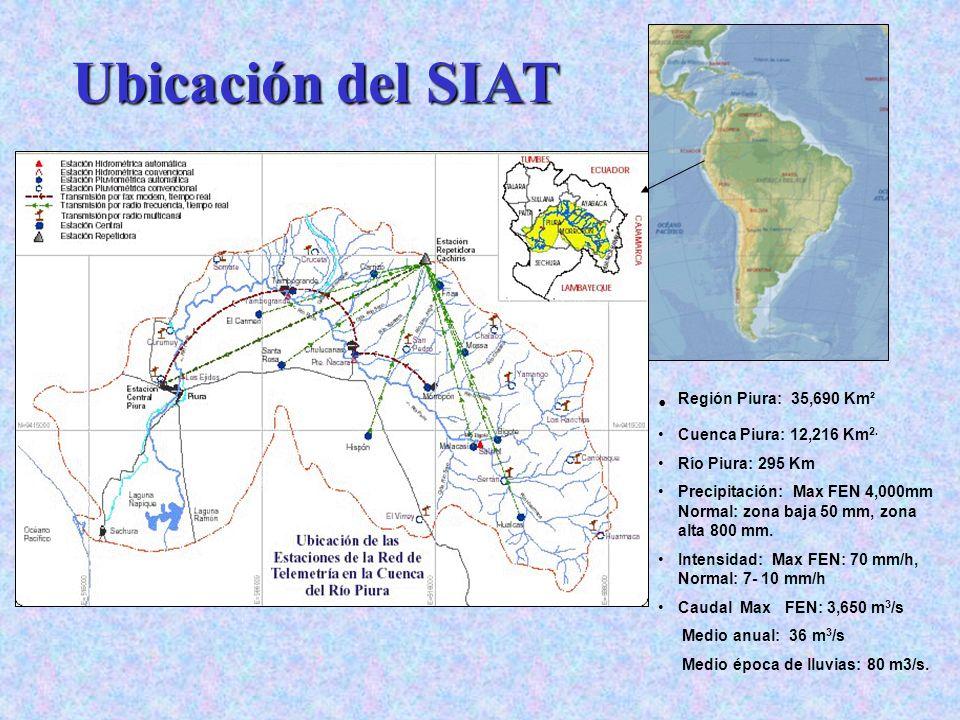 Ubicación del SIAT Región Piura: 35,690 Km² Area del Dpto: 35,690 Km2